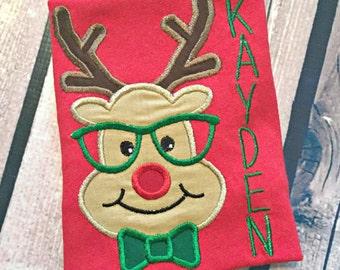 Geeky Reindeer Baby Christmas Shirt
