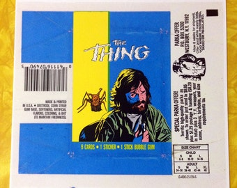 The Thing faux wax pack print