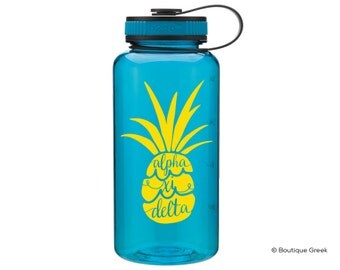 AXiD Alpha Xi Delta Pineapple Water Bottle