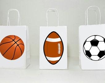 Sports Goody Bags, Sports Favor Bags, Sports Gift Bags, Sports Goodie Bags, Sports Theme Goody Bags, Football, Soccer, Basketball