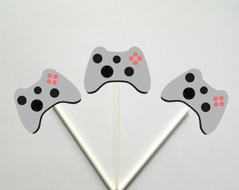 Video Game Cupcake Toppers, Gaming Cupcake Toppers
