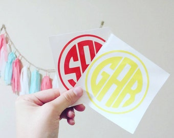 Medium Round Monogram Decal