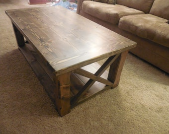 Rustic Coffee Table with Breadboards