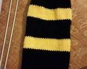 Hufflepuff inspired long arm warmers
