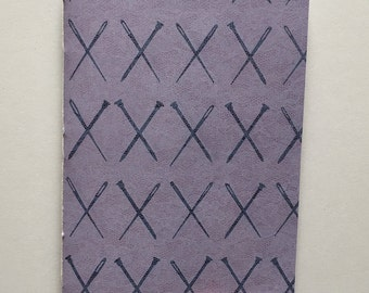 Knit and Sew Patterned Hand-Dyed Notebook