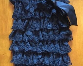 Black Lace Petti Romper