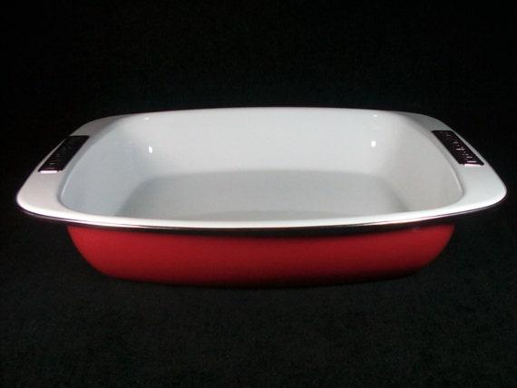 Vintage Kitchenaid Burnt Orange Enamel Roasting Pan