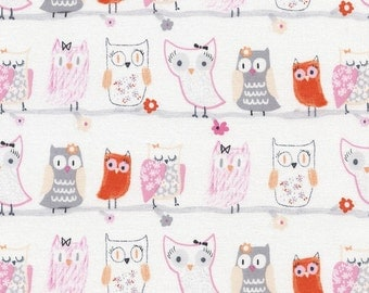 Pastel Owls, Flora & Fawn, from Timeless Treasures