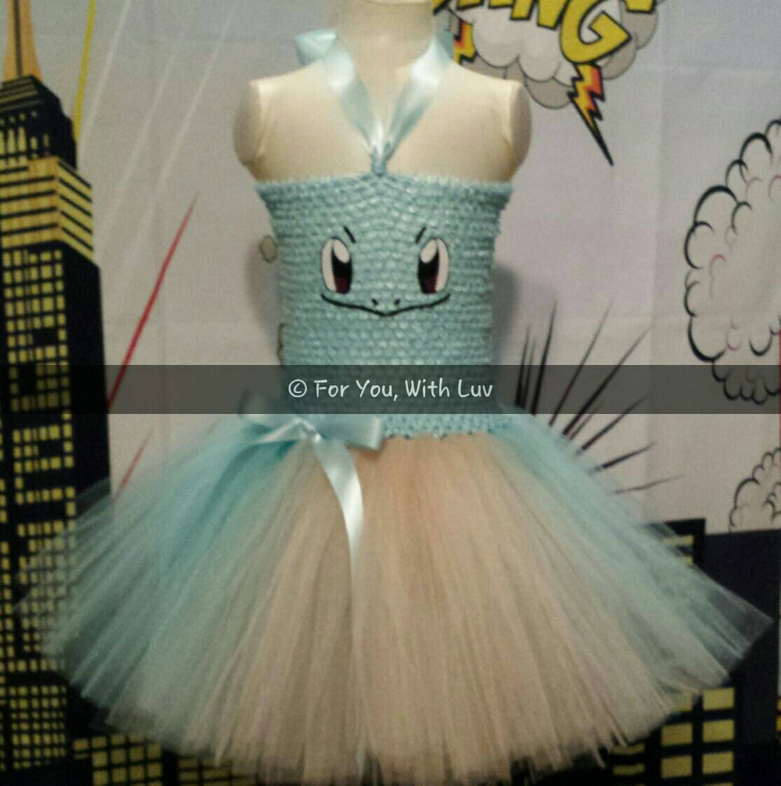 pokmon squirtle tutu dress pokmon tutu dress halloween costume girls halloween tutu