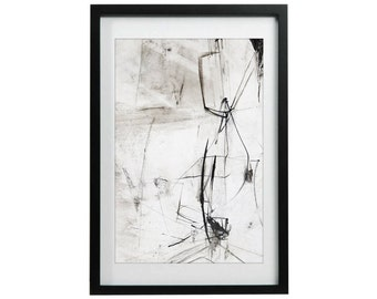 Modern Art Decor, Giclee Print of Ink Drawing, Art Drawing, Black and White Art, Contemporary Home Decor, Minimalist Modern Art