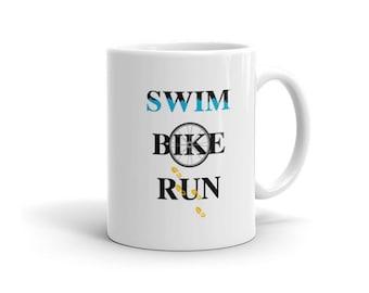 Swim, Bike, Run Mug - Triathlon