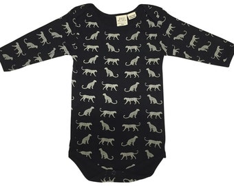 Long Sleeve Bodysuit, organic baby clothes, Seagulls print