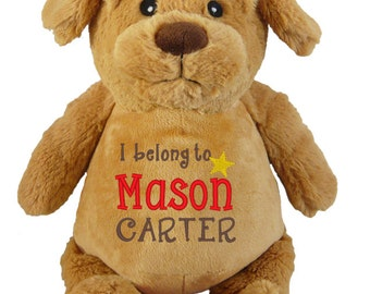 Personalised PUPPY Cubbies Stuffies Gift, Christening, Birthday, Wedding, Any Occasion, Any message