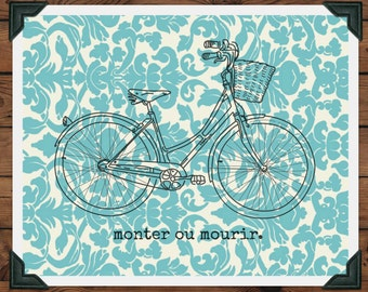 Vintage Bicycle Printable in French