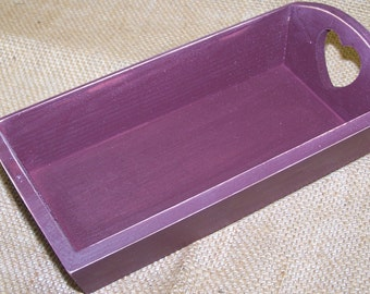 2 WOODEN TRAYS  new