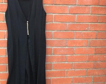 Black vest dress
