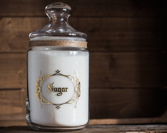 Apothecary Pantry Jar 35oz/1000ml - Create your own