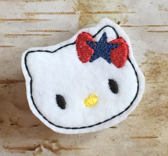 4th of july hello kitty felt clippie by kbhbowdesigns on etsy for Hello kitty 4th of july coloring pages