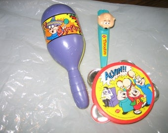 Chipmunks Band Instruments from Dairy Queen 1994