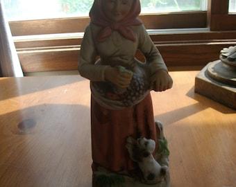 Old Woman Homco Figurine
