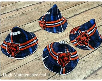 Chicago Bears pee-pee tee-pees, Sprinkle covers, Wee wee wig wams, Sprinkle tents, Pee covers, Babyshower gift idea, Expecting dad gift