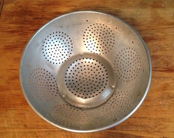 Vintage Aluminum Kitchen Strainer