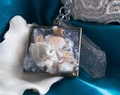 Frozen- Dried Crab and barnacle crystal necklace