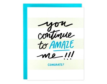 Congrats Card, Congratulations Card, Card Congrats, Amazing News Card, Yay For You, You Amaze Me Card, Proud Of You Card, Woo Hoo