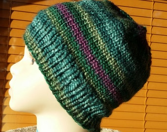 Beanie cup - multicolor - knitted - handmade - 10110