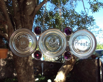 Purple Canning Jar Lid Suncatcher