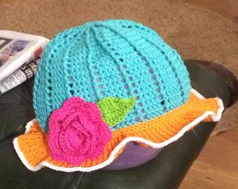 Cute little girls Sun/cloche/Panama hat