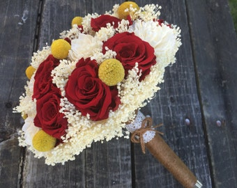 Romantic, Red Rose, Billy Ball and Sola Flower Bouquet