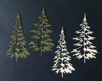 Woodland Trees -- Set of 4 -- Handmade in USA