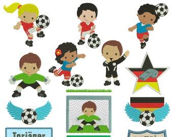 Soccer kids for the 13x18cm frame