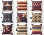 """Throw Pillow Covers, Accent Pillow Covers, Fall Pillow Covers, Autumn Home Decor, 16""""x16"""" 18""""x18"""" 20""""x20"""" 24""""x24"""" (M20) Decorative Pillows"""