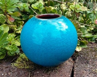 Art Deco style - vase  ... turquoise ... 366/2a