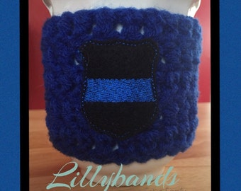 Thin Blue Line Cup Holder