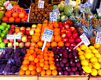 Fine Art Photograph of Pike Place Market Seattle Washington, fruit stand home decor wall art photo Pacific Northwest, 5x7 8x10 11x14 16x20