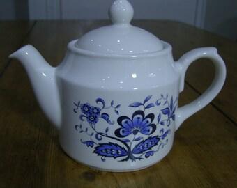 Sadler Blue and White Small Teapot