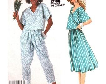 McCalls Sewing Pattern 2346 Misses' Top, Skirt, Pants  Size:  14  Uncut