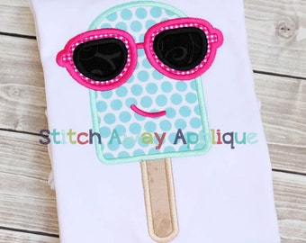 Cool Popsicle Summer Beach Machine Applique Design