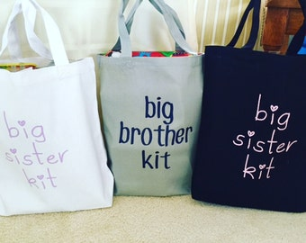 Big Brother/Big Sister Totes, Customized kid's totes