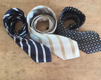 3Silk  ties for man, vintage clothes , original  handmade tie