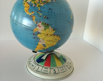 8 inch magnetic Air Race Globe - Replogle - 1950's vintage