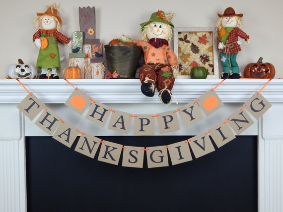 Happy thanksgiving banner thanksgiving banner fall decor Happy thanksgiving decorations