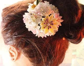 Janpanese kanzashi hair accessory-  bridal hair pin, wedding hair pin, bridal hair flower, wedding Headpiece, wedding hair pins-Z24