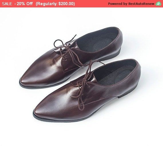 womens shoes leather oxfords brown leather by