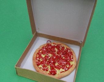 Pizza Ornament, Pepperoni pizza ornament