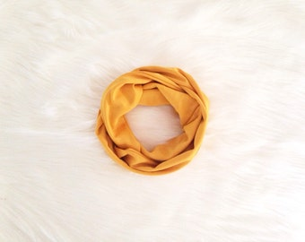 Baby Toddler Child Infinity Scarf - Mustard Yellow - READY TO SHIP