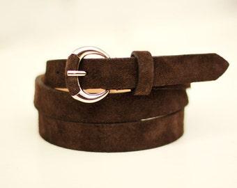 Free shipping! Brown belt, brown leather belt, black woman belt, suede belt, black belt, woman leather belt, dress belt, waist belt